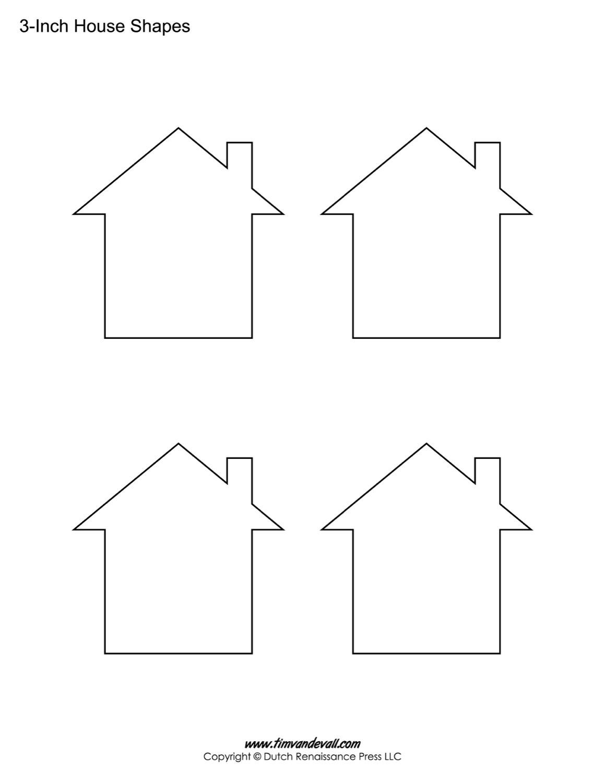 House Templates | Free Blank House Shape Pdfs - Free Shape Templates Printable