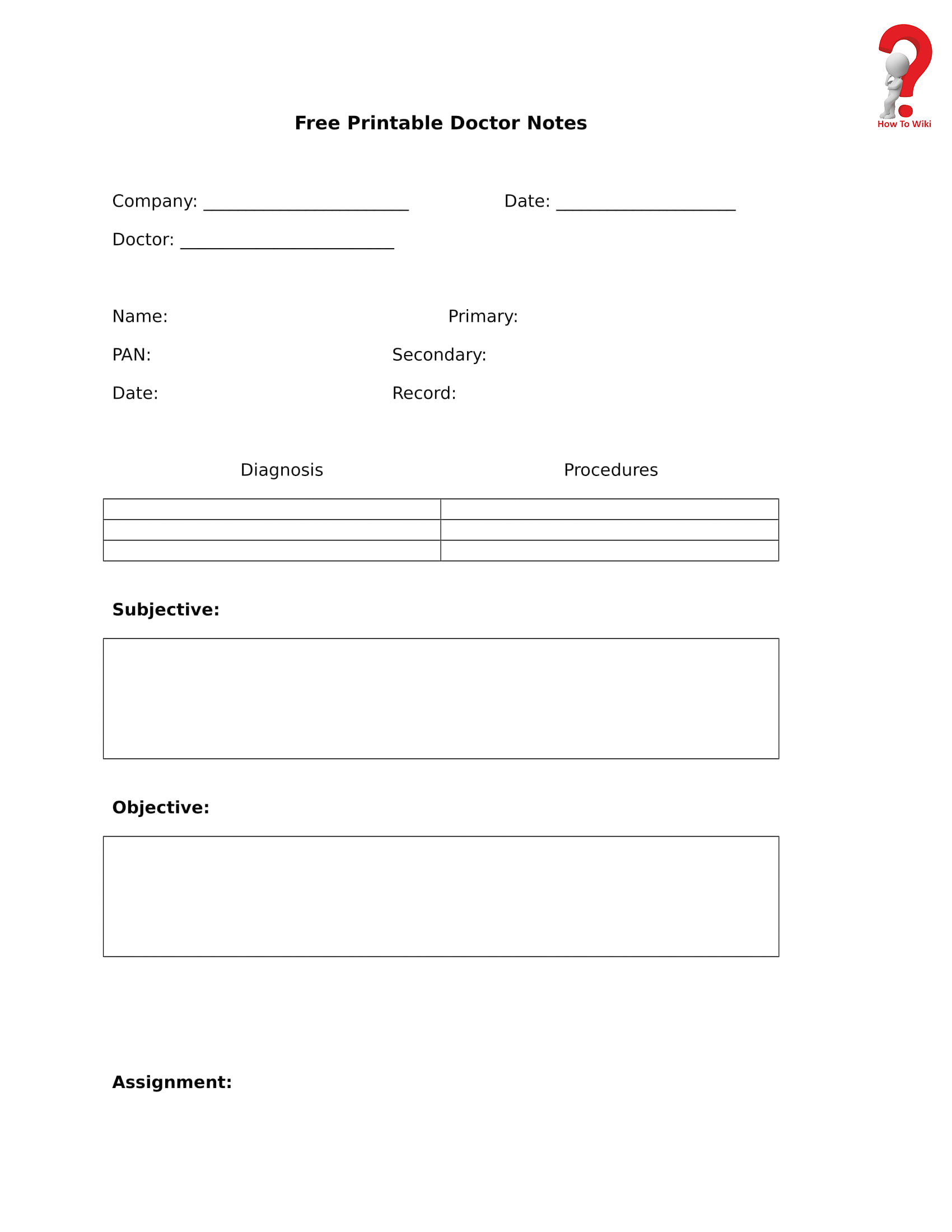 How To Make A Fake Doctor's Note   How To Wiki - Free Printable Doctor Notes
