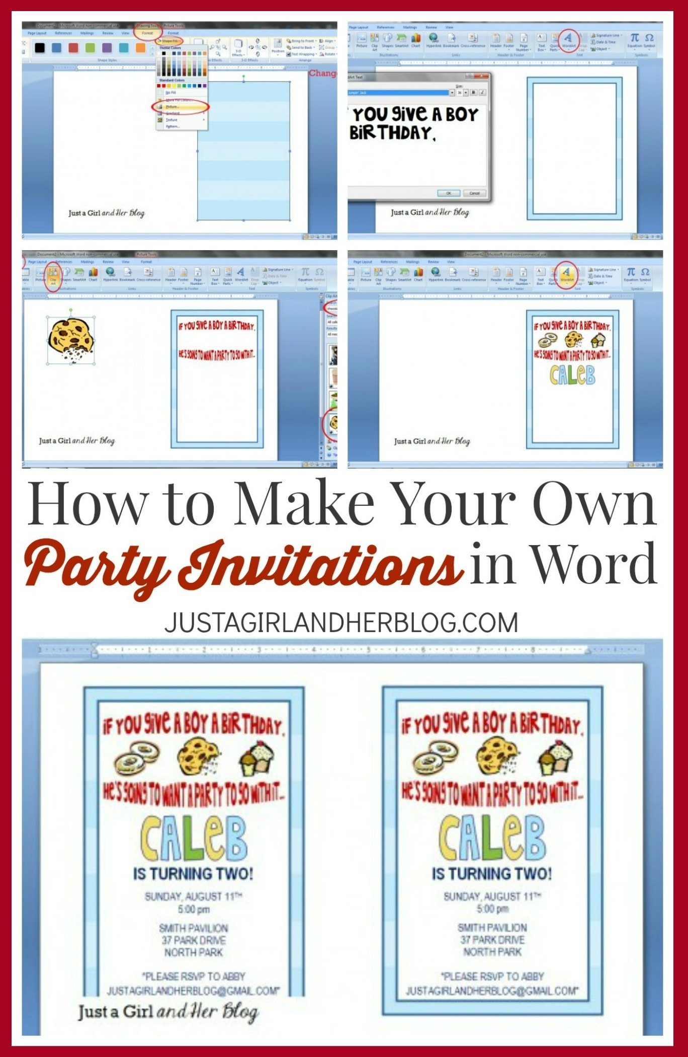 How To Make Your Own Party Invitations | Abby Lawson - Make Your Own Birthday Party Invitations Free Printable