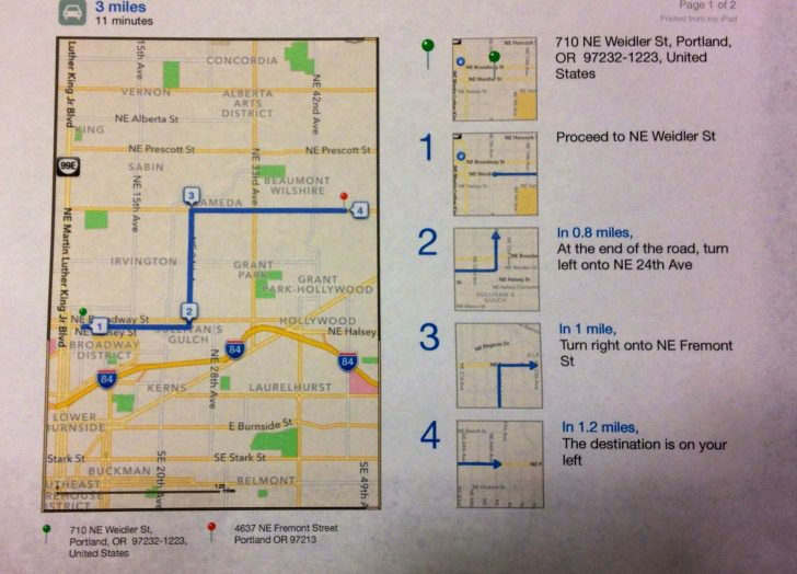 Free Printable Driving Directions