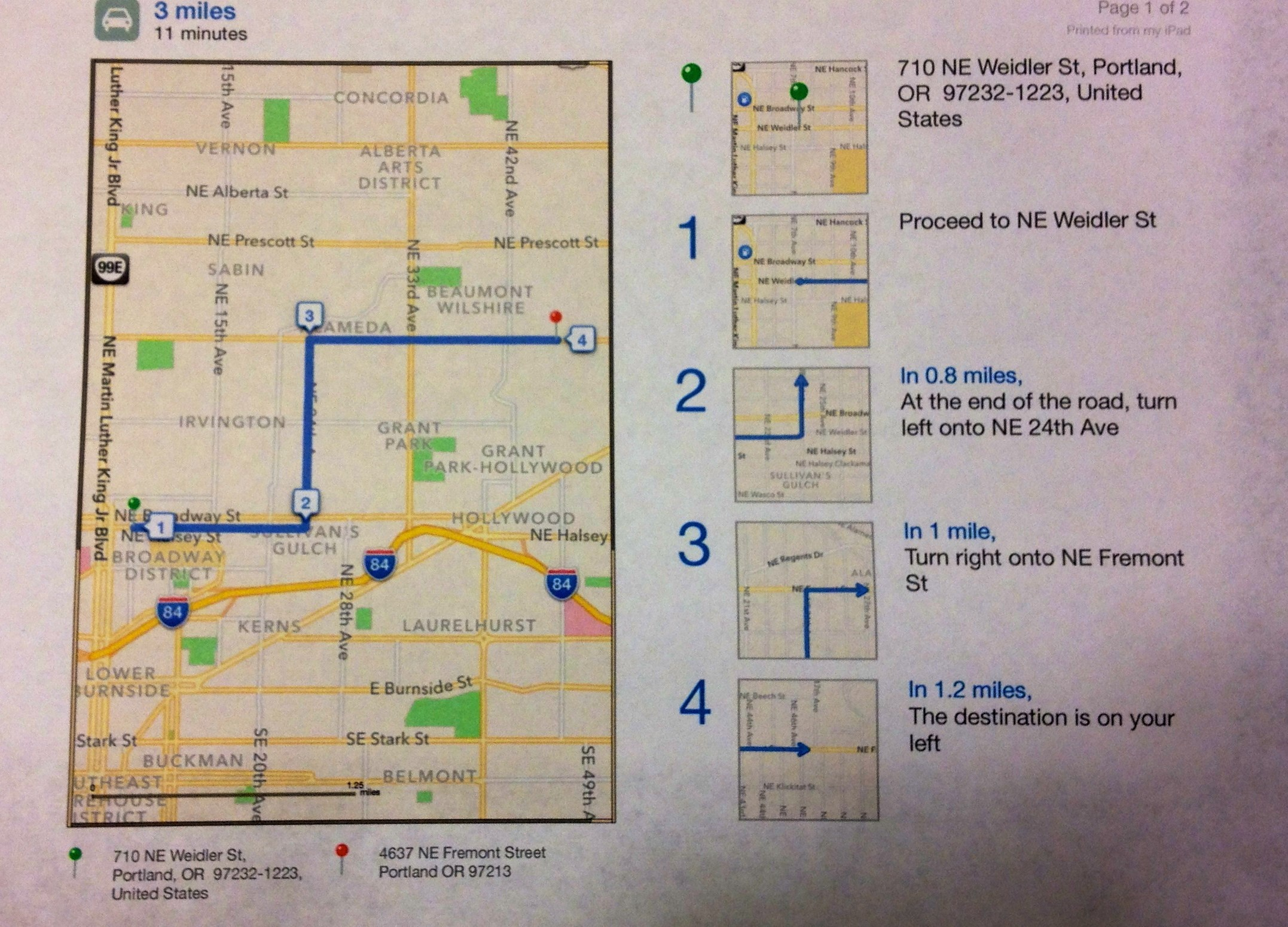 How To Print Driving Directions Directly From Iphone, Ipad (Mini - Free Printable Driving Directions