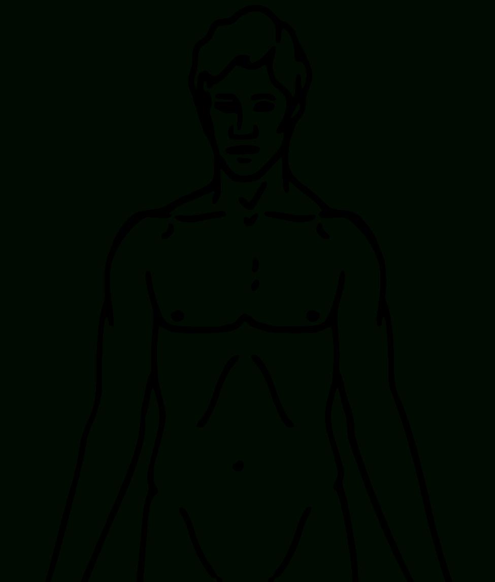 Human Body Outline Printable   Free Download Best Human Body Outline - Free Printable Human Body Template