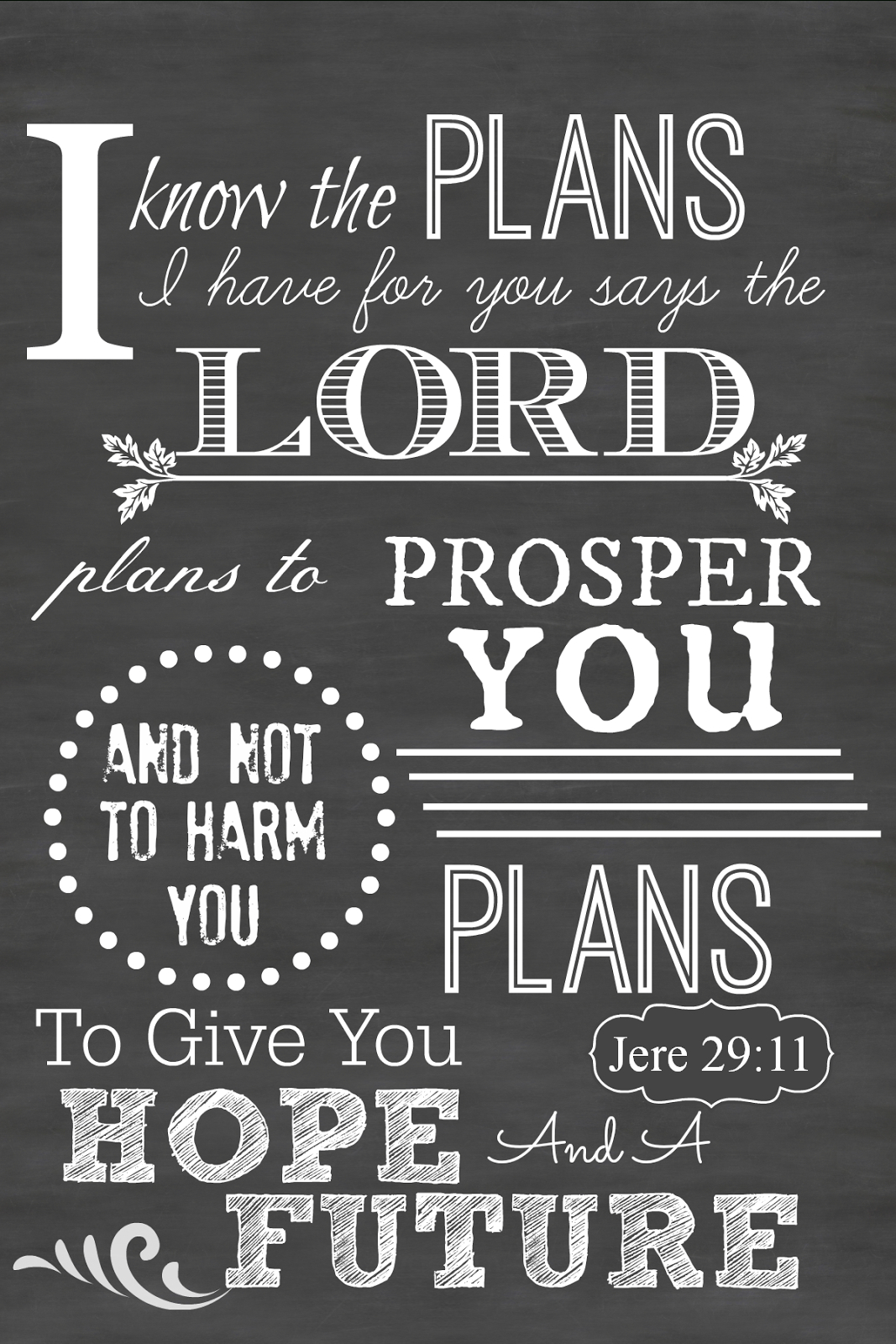 I Love This Encouraging Words From The Lord! ~ Free Printable - Jeremiah 29 11 Free Printable