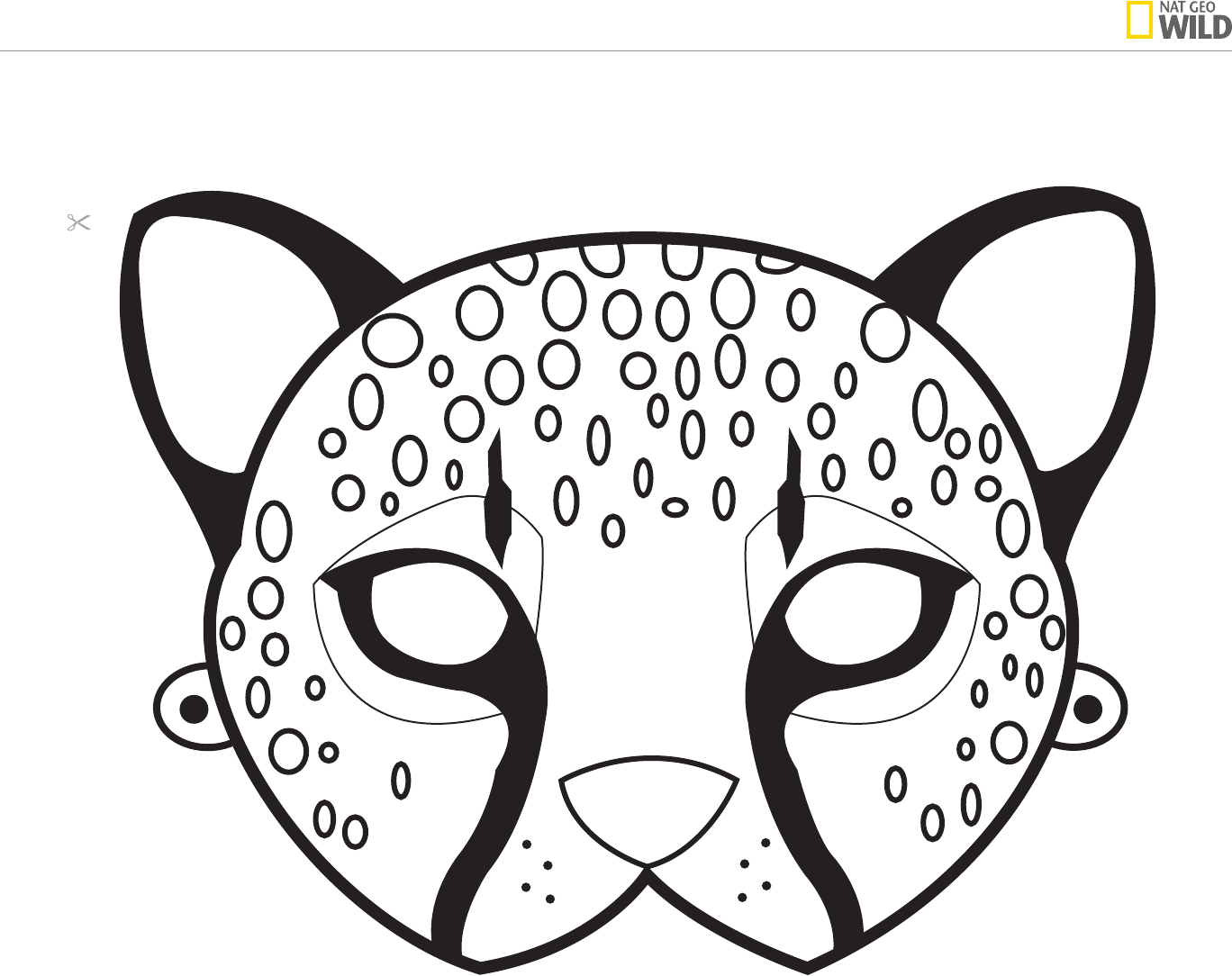 Ideas For A Natural African Safari Theme Party   Cheetah Birthday - Free Printable Lion Mask