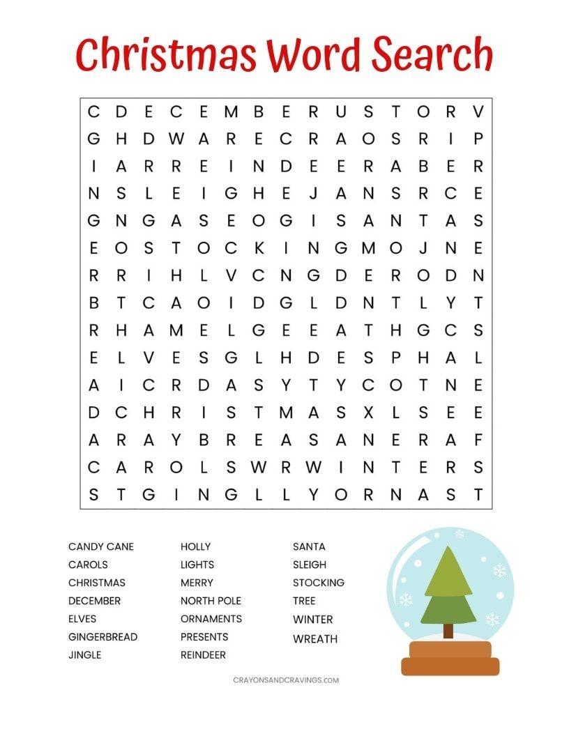 Image Result For Free Printable Christmas Word Search   Seasons - Free Printable Christmas Word Search