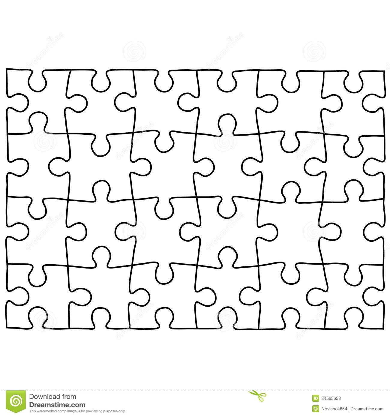 Jigsaw Puzzle Design Template | Free Puzzle Templates 1300.1390 - Puzzle Maker Printable Free