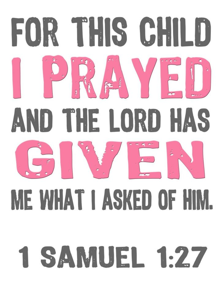 For This Child We Have Prayed Free Printable