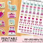 Kawaii Happy Mail Envelope Stickers   Free Printable   Planner   Free Printable Kawaii Stickers