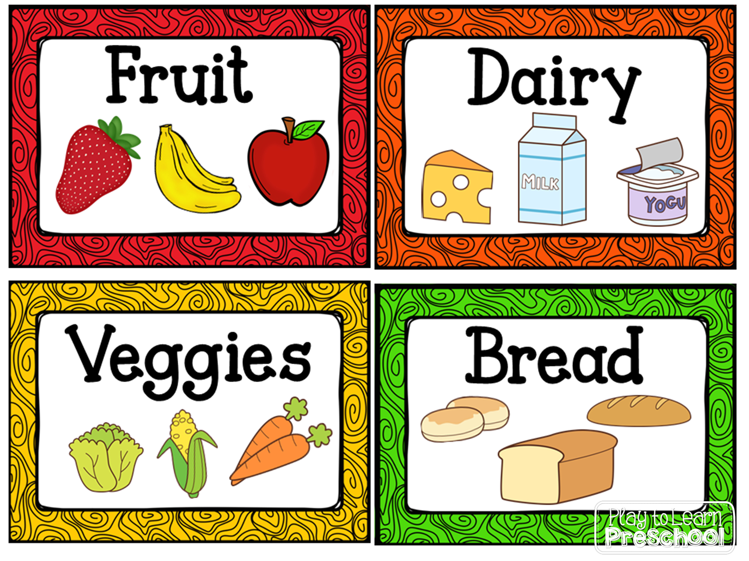 Kitchen Dramatic Play Center   Centers   Dramatic Play Centers - Free Printable Play Food Labels