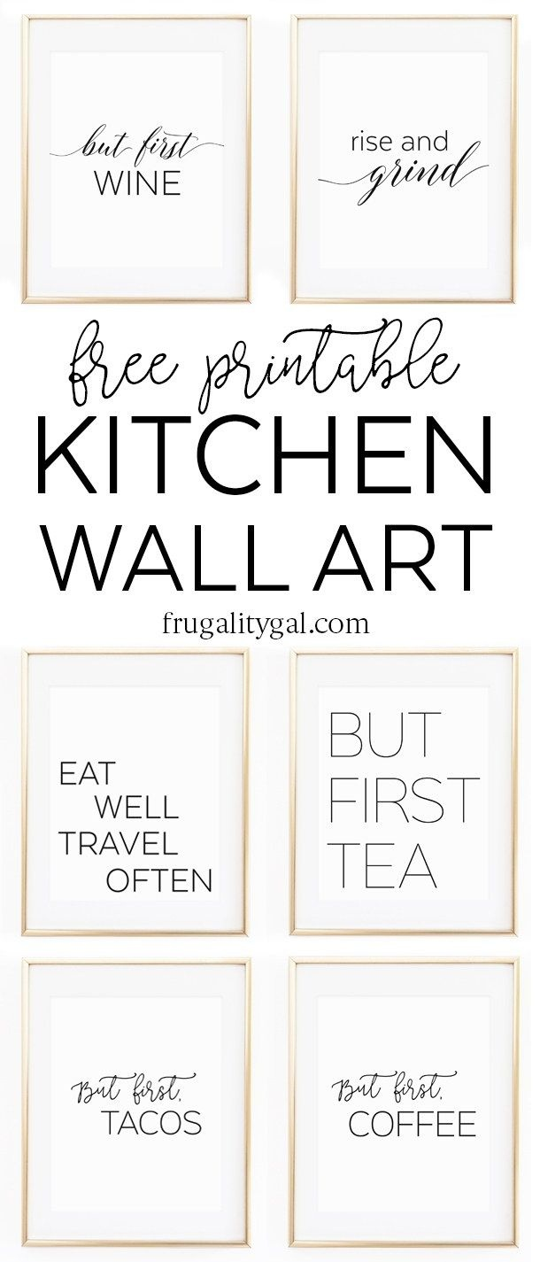 Kitchen Gallery Wall Printables | Free Printable Wall Art - Free Printable Wall Art Decor