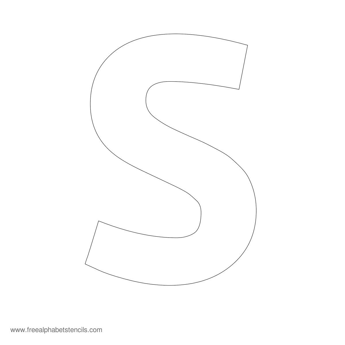 Large Alphabet Stencils | Freealphabetstencils - Free Printable Greek Letters