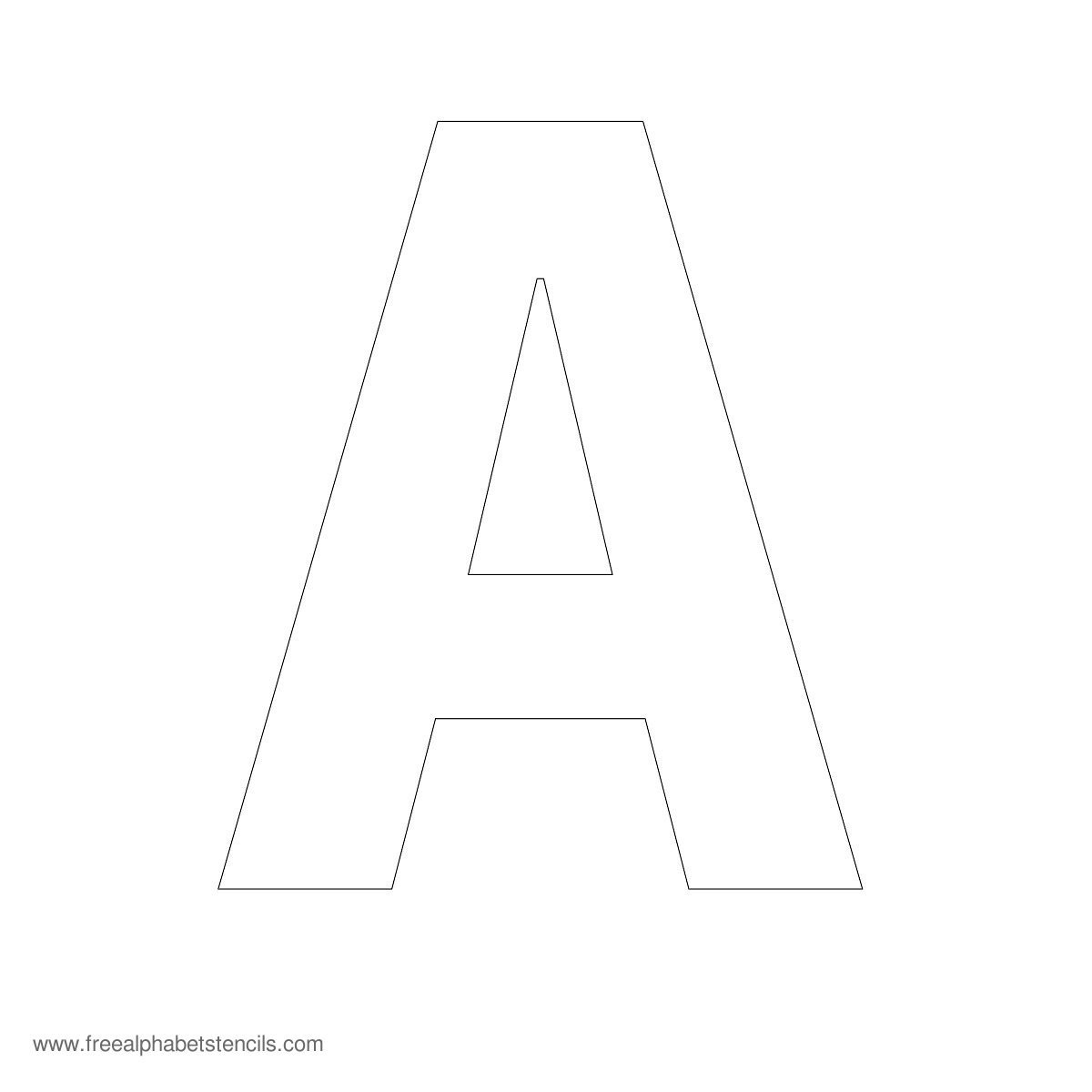 Large Alphabet Stencils   Freealphabetstencils - Free Printable Letter Stencils