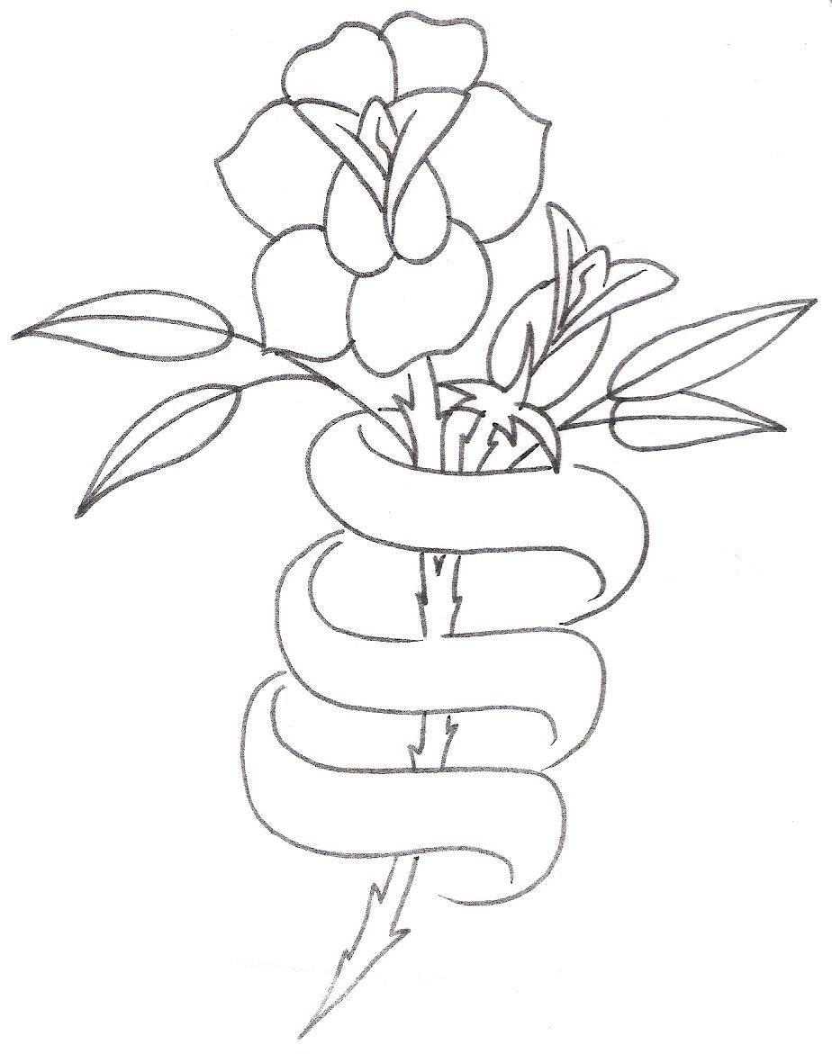Large Free Printable Tattoo Designs   Tattoo Design,rose With Ribbon - Free Printable Tattoo Designs