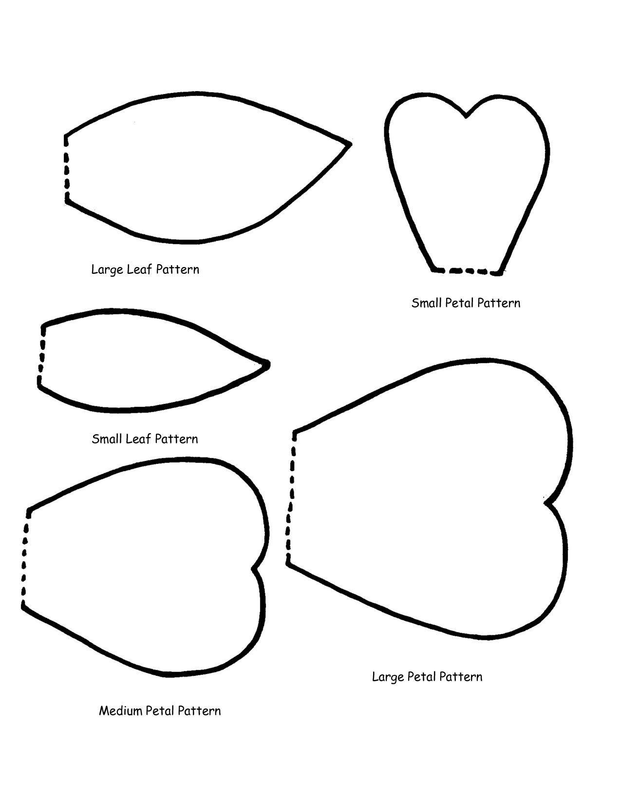 Leaf Patterns - Quoteko. - Clipart Best - Clipart Best   Flowers - 5 Petal Flower Template Free Printable