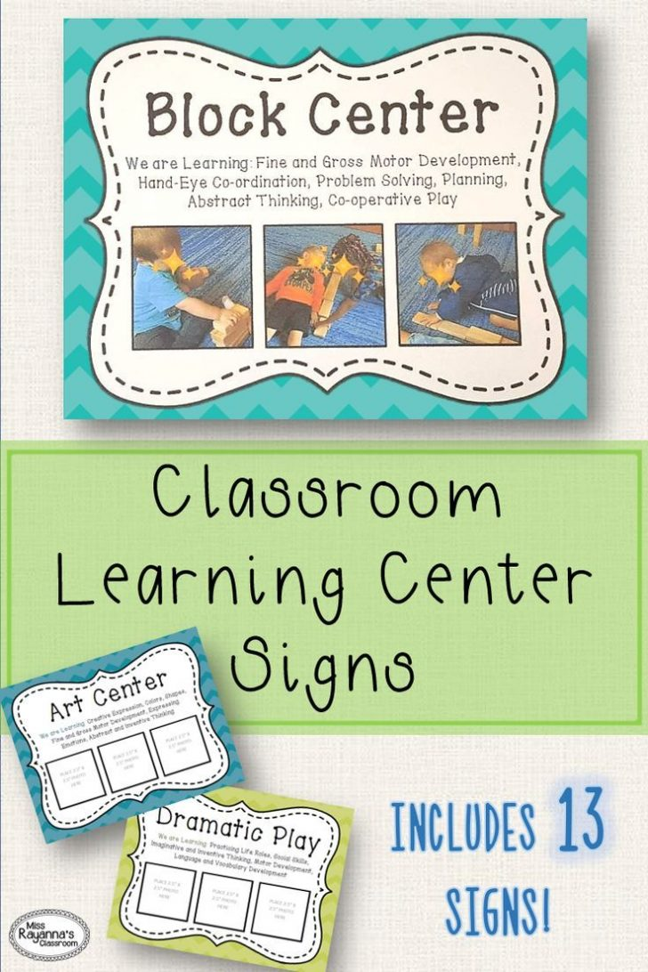 Free Printable Learning Center Signs