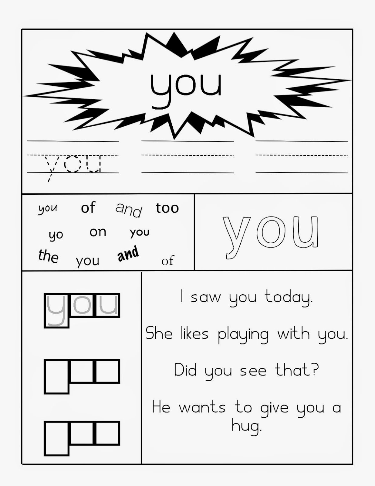 Learning Through Mom Sight Word Worksheets Free Printables - Free Printable Sight Word Worksheets