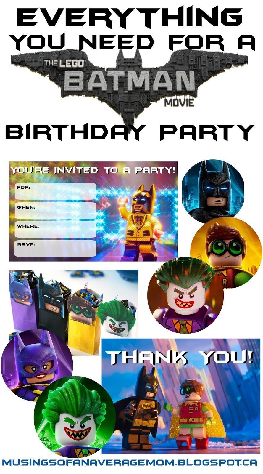 Lego Batman Thank You Cards   Lego Batman 5Th Bday   Lego Batman - Lego Batman Party Invitations Free Printable