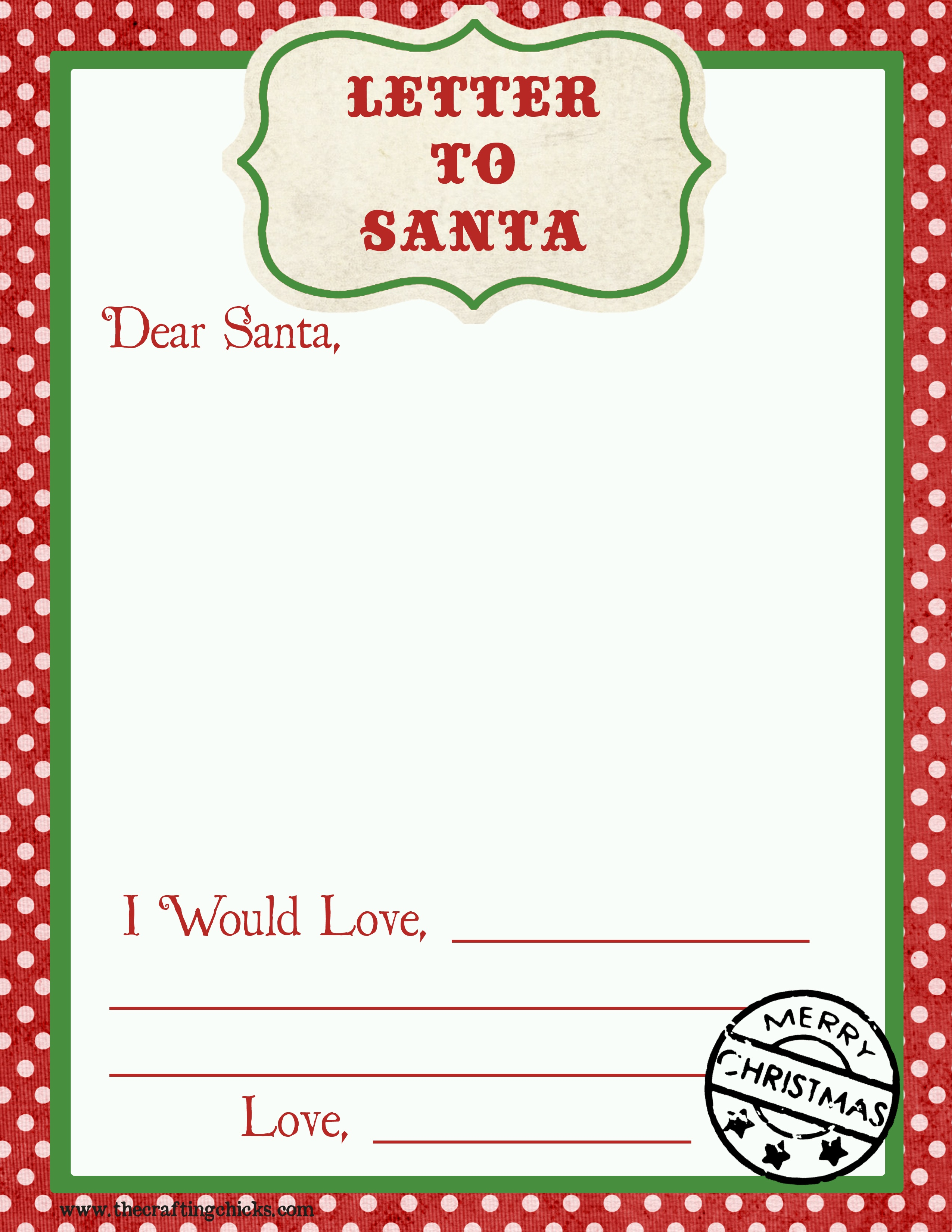 Letter To Santa Free Printable Download - Free Printable Dear Santa Stationary