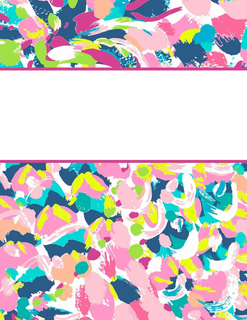 Lilly Pulitzer Binder Covers 2017 — Free, Cute, Printable Binder Covers! - Cute Free Printable Binder Covers