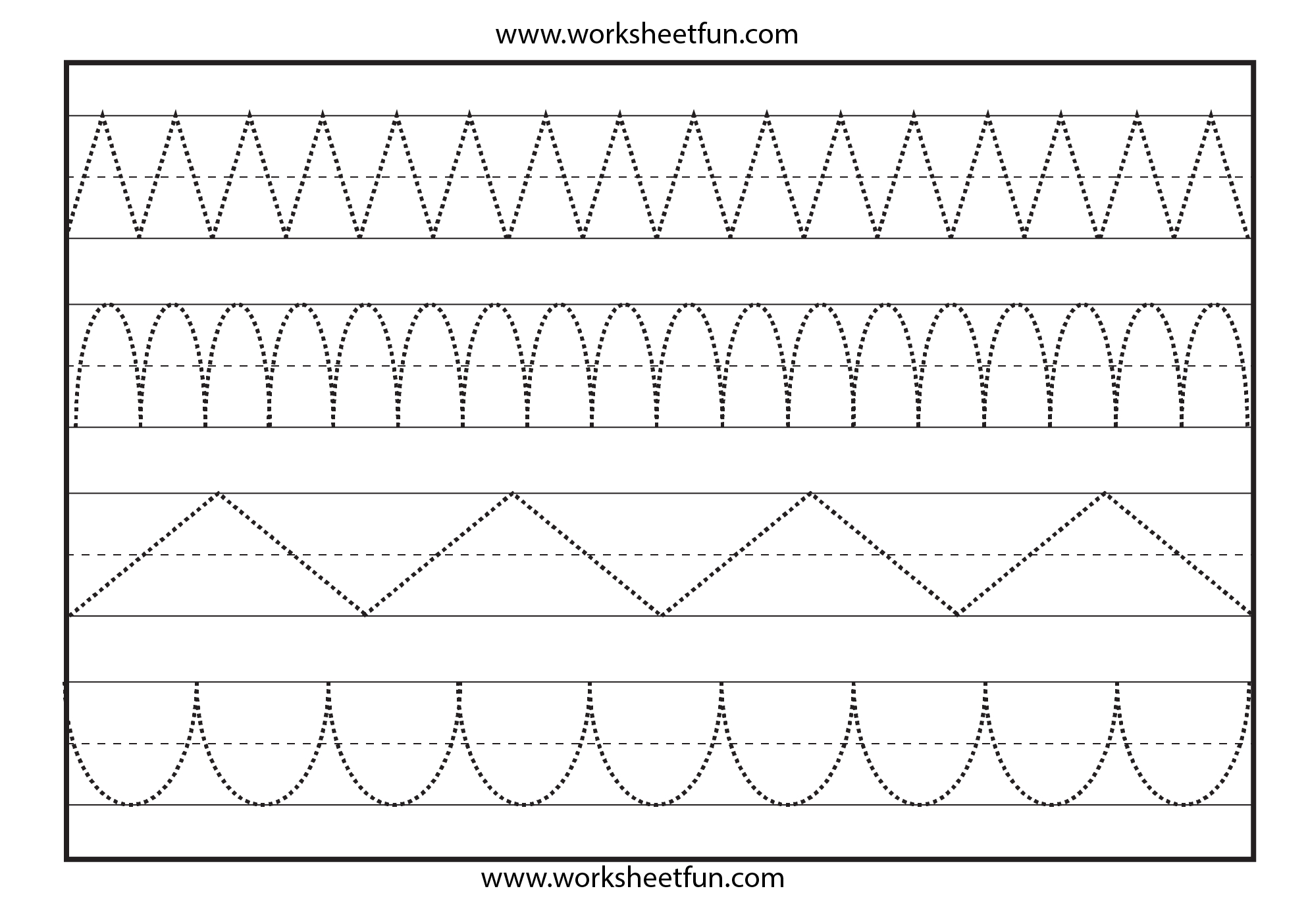 Line Tracing   Tracing   Worksheets, Writing Worksheets, Free - Free Printable Preschool Worksheets Tracing Lines