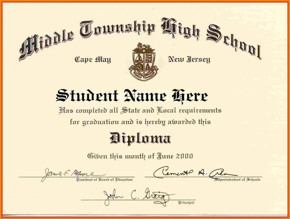 Looking For High School Diploma Template Word For Free? Here You Go - Free Printable High School Diploma Templates