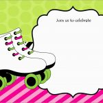 Luxury Skating Party Invitation Template Free   Best Of Template   Free Printable Roller Skate Template