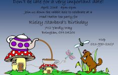 Mad Hatter Tea Party Invitations – Party Invitation Collection – Mad Hatter Tea Party Invitations Free Printable