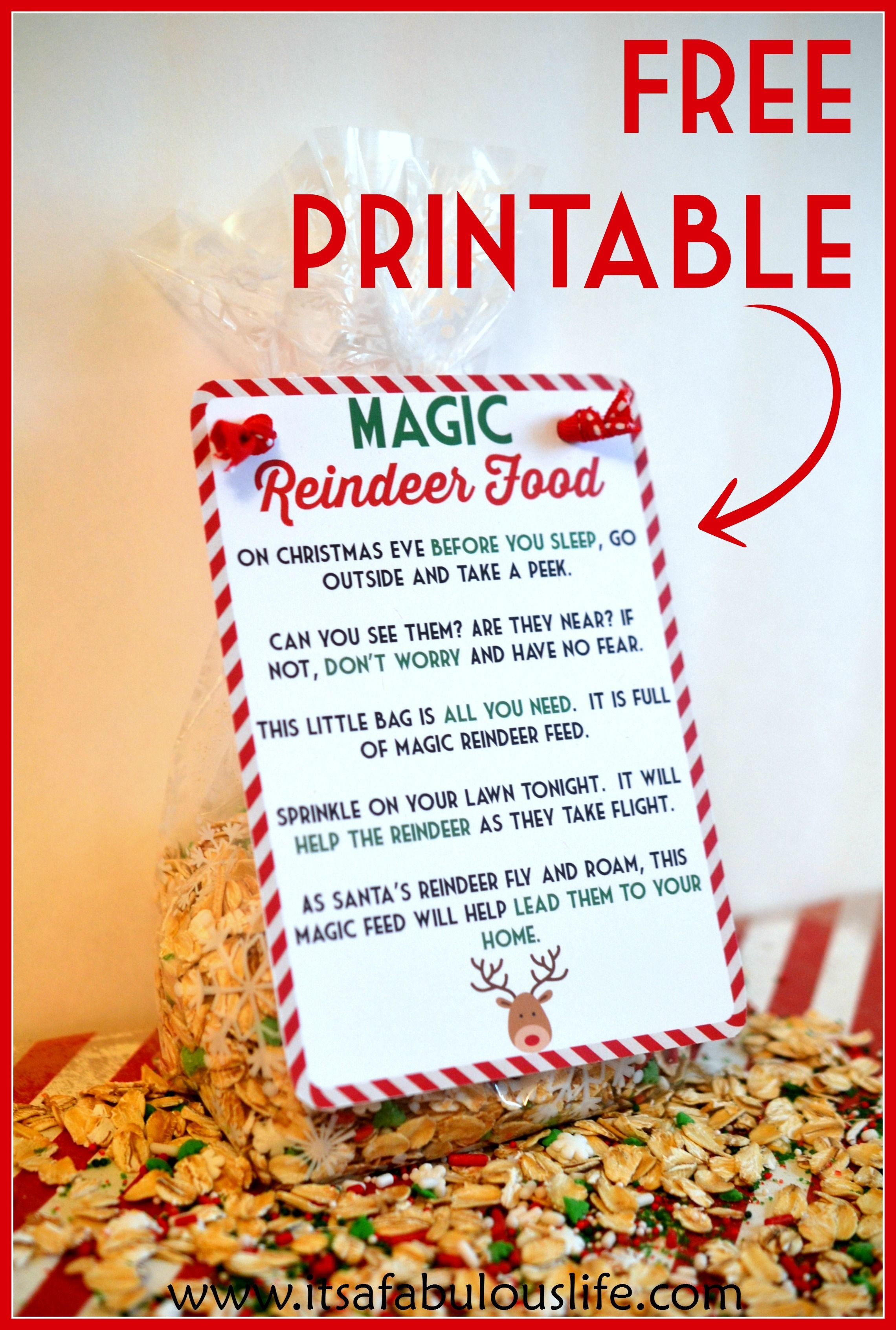 Magic Reindeer Food Poem & Free Printable | Little People, Big - Reindeer Food Poem Free Printable