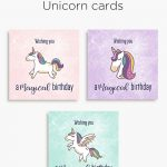 Magical Unicorn Birthday Cards | Free Printable | Download   Free Printable Easter Cards For Grandchildren