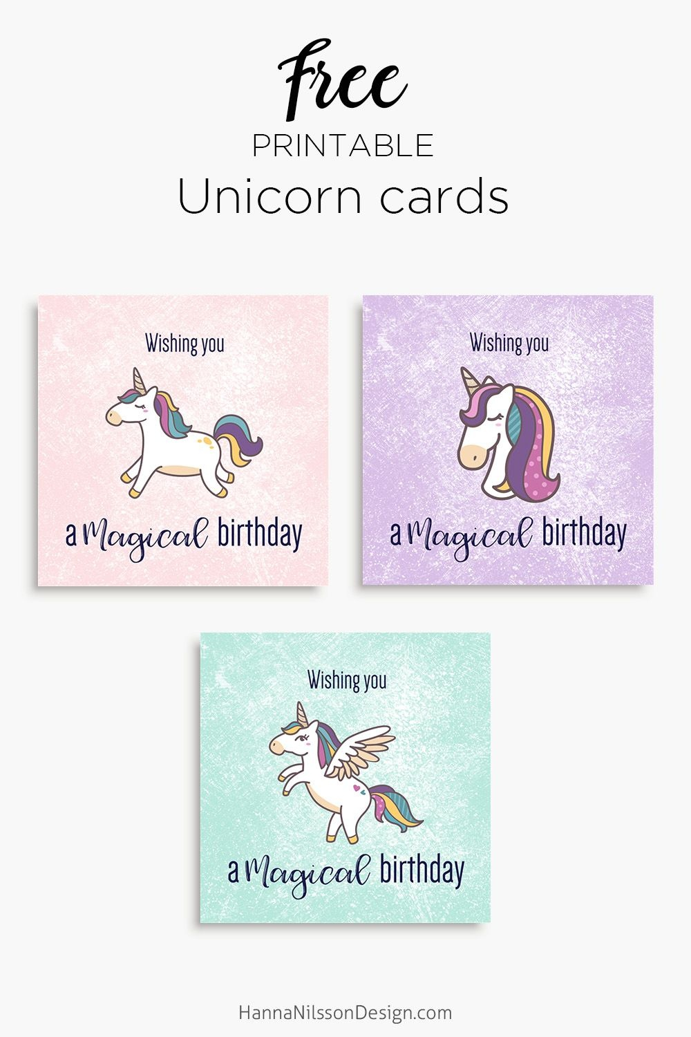 Magical Unicorn Birthday Cards | Free Printable | Download - Free Printable Easter Cards For Grandchildren