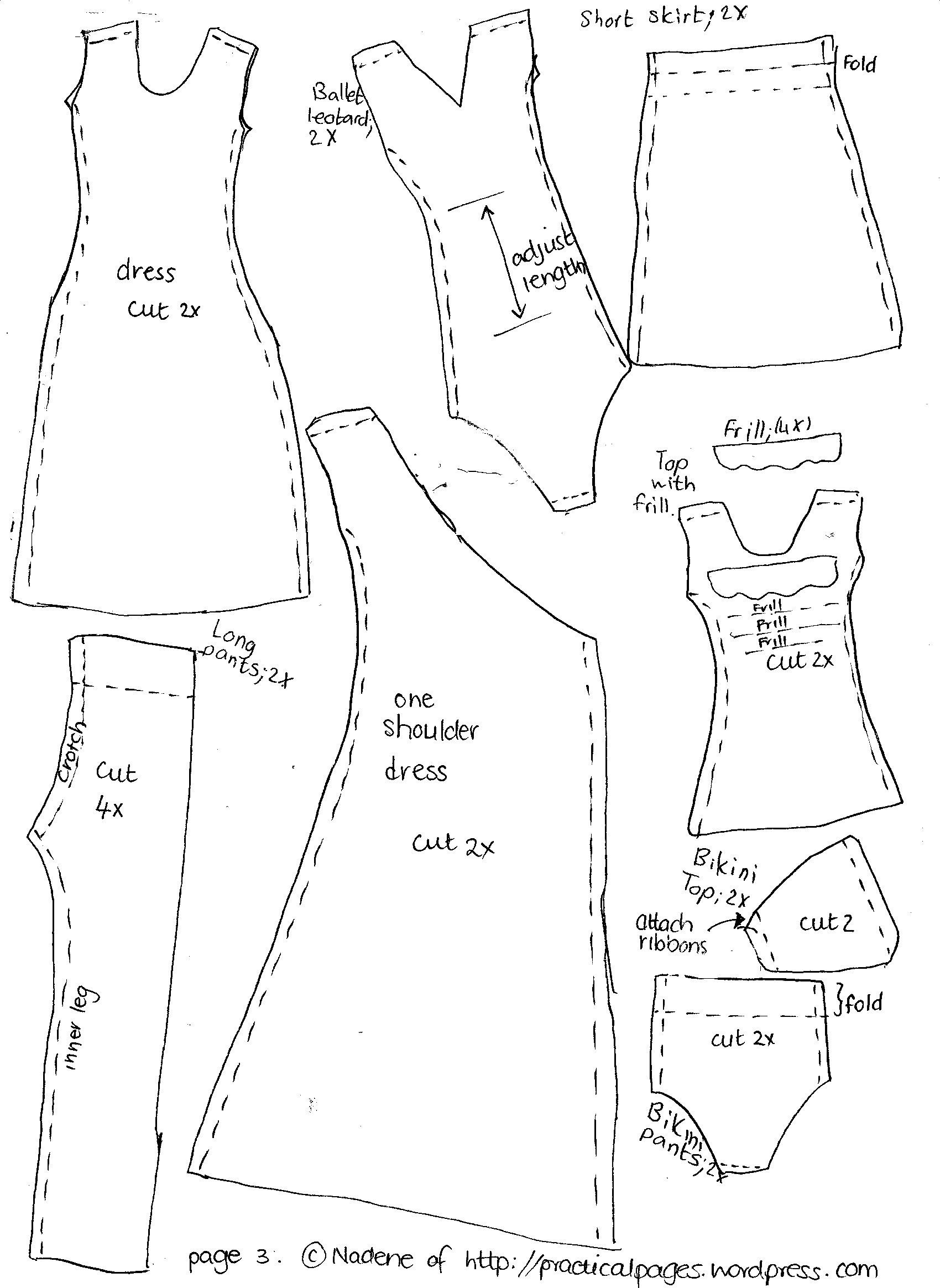 Make A Rag Doll Family | Vicki | Barbie Clothes Patterns, Barbie - Barbie Dress Patterns Free Printable Pdf