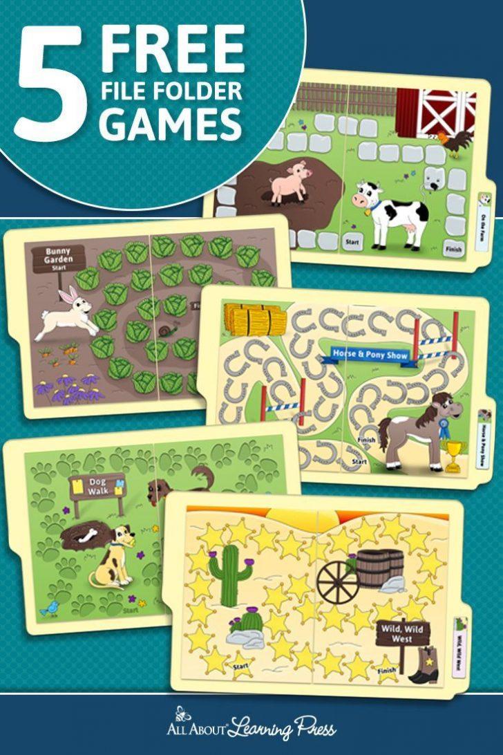 Free Printable File Folder Games