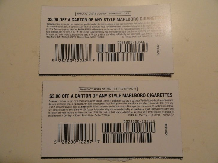 Free Printable Cigarette Coupons