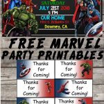 Marvel   Avengers   Birthday Party Printable Files   Invitations   Avengers Party Invitations Printable Free