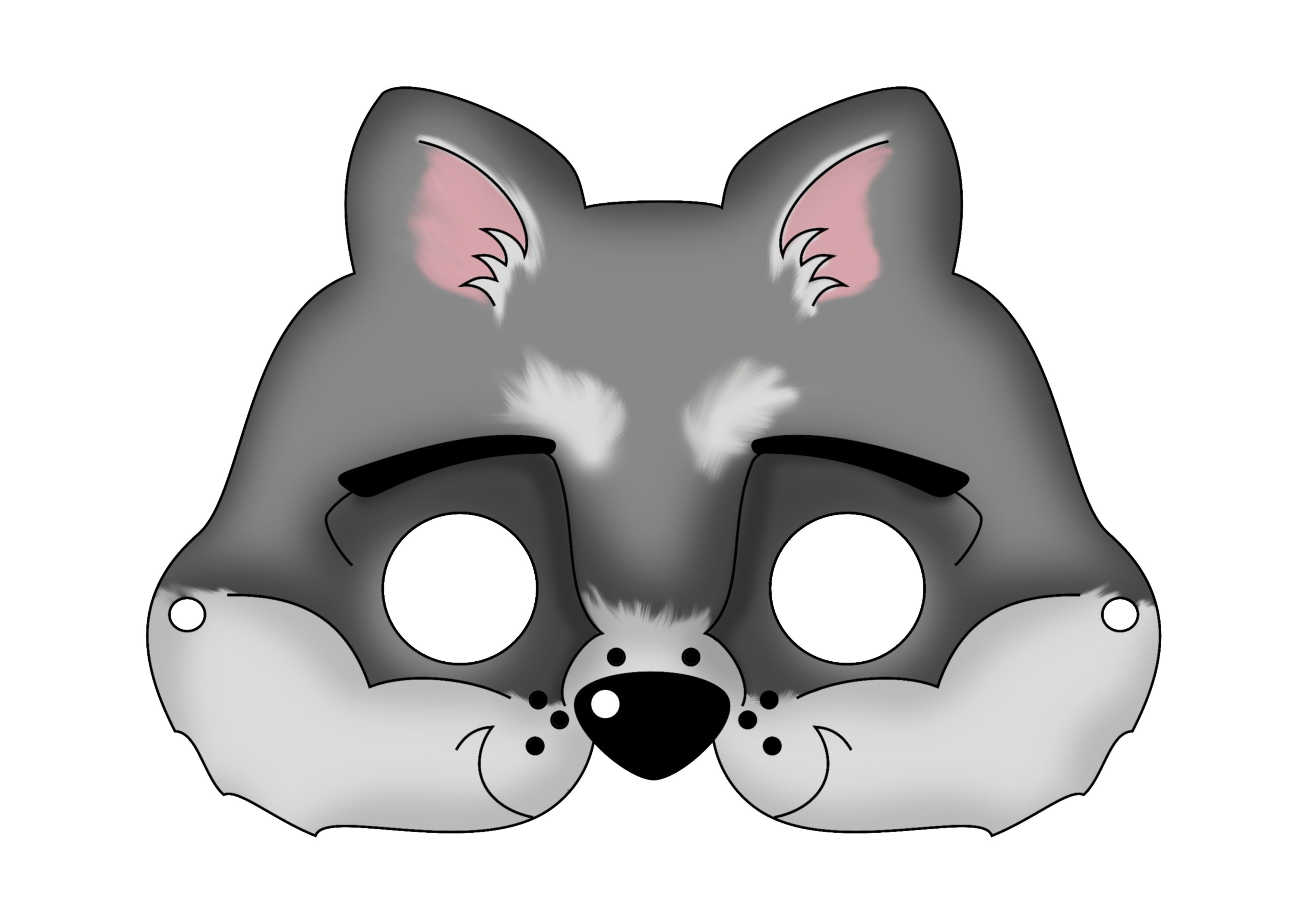 Masks   Carnival Masks Or Just Plain Fun On A Cold Winter Day   Hide - Free Printable Wolf Mask