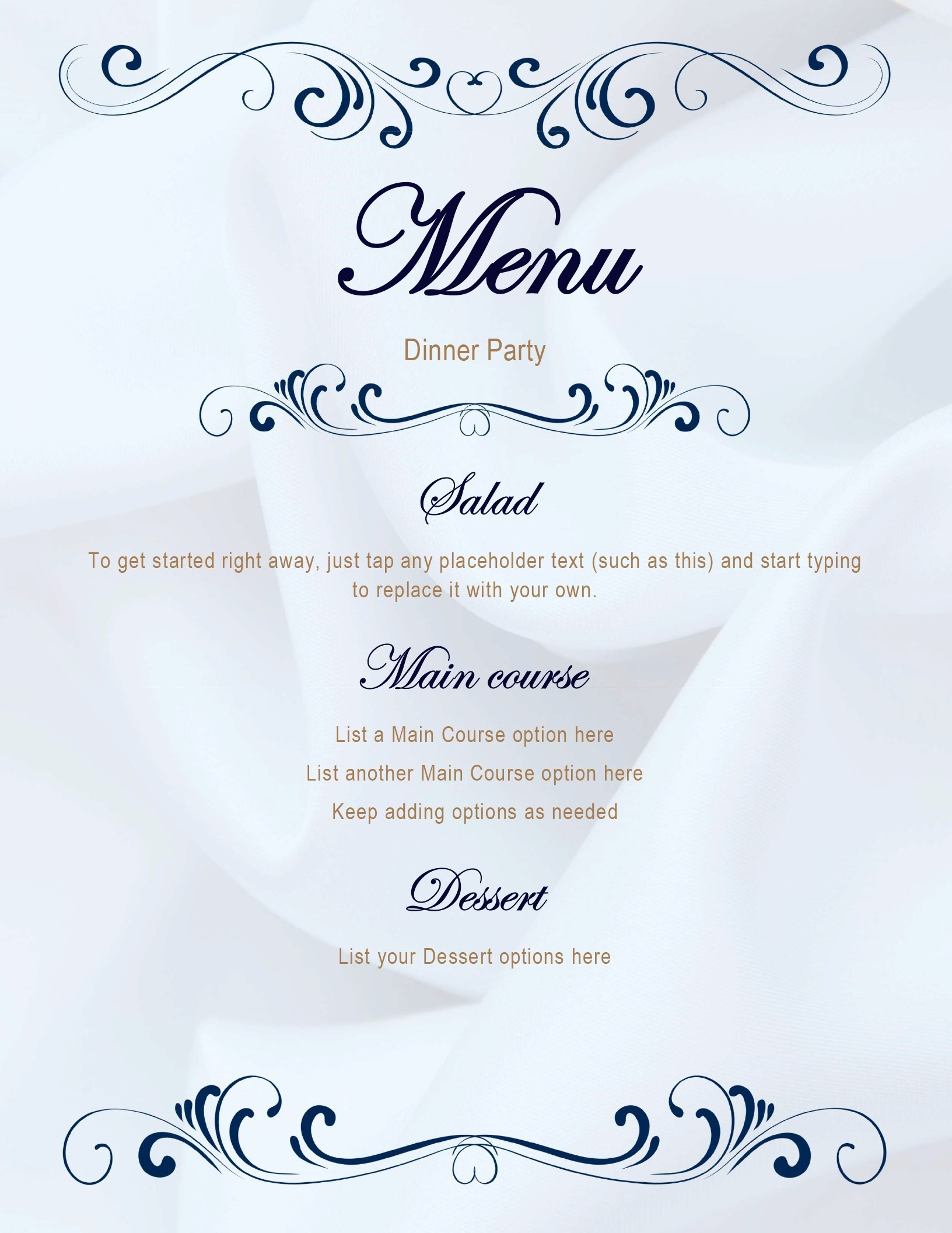 Menus - Office - Free Printable Menu Templates