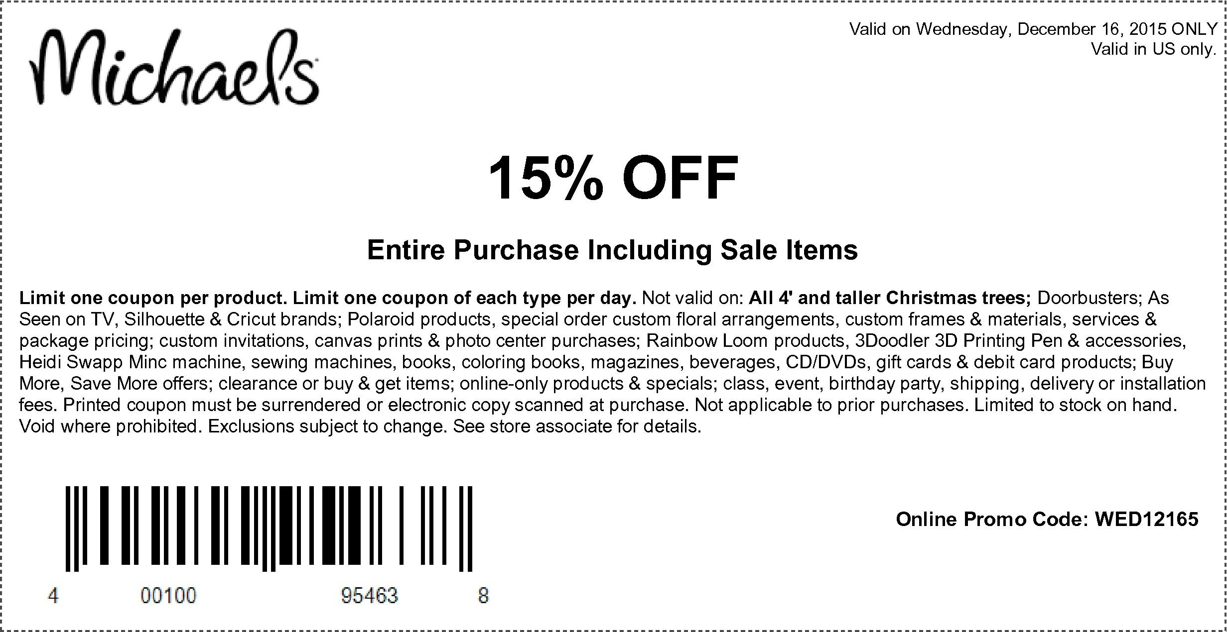 Michaels Free Printable Coupons | Printable Coupons Online - Free Printable Coupons 2014