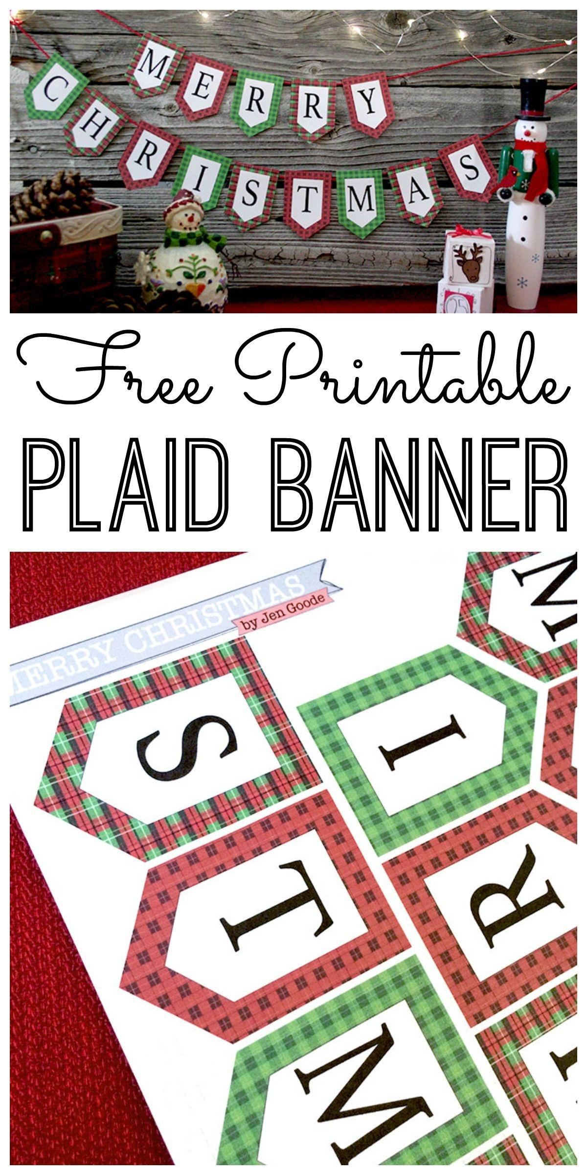 Mini Merry Christmas Banner And Holiday Printables Blog Hop | Cricut - Free Printable Christmas Banner