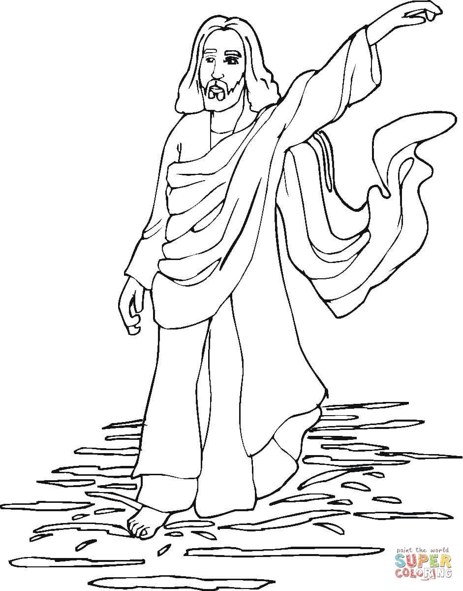 Miracles Of Jesus Coloring Page | Free Printable Coloring Pages - Free Printable Jesus Coloring Pages