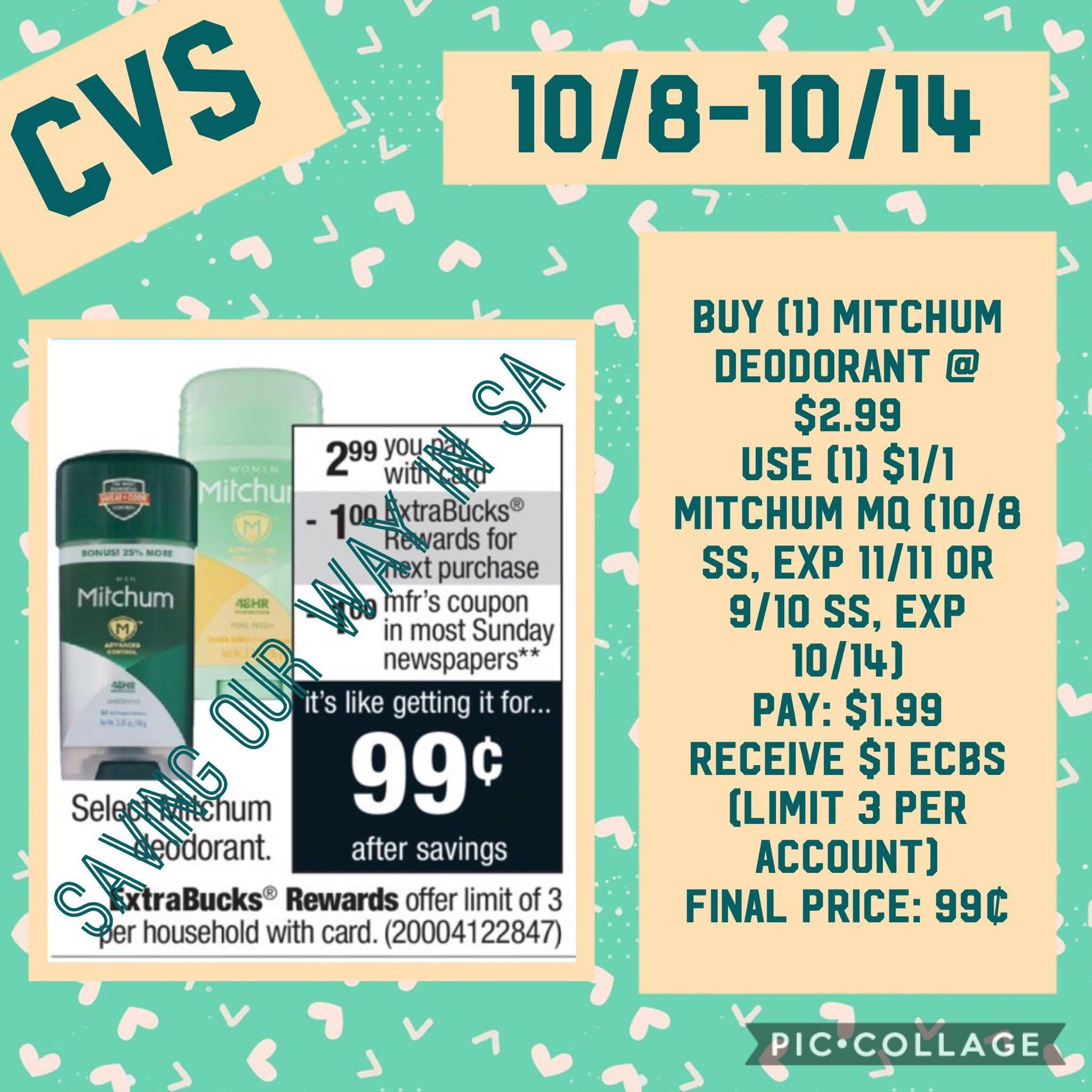 Mitchum Deodorant Just $0.99 @ Cvs! Week Of 10/8-10/14 | Couponing - Free Printable Coupons For Mitchum Deodorant