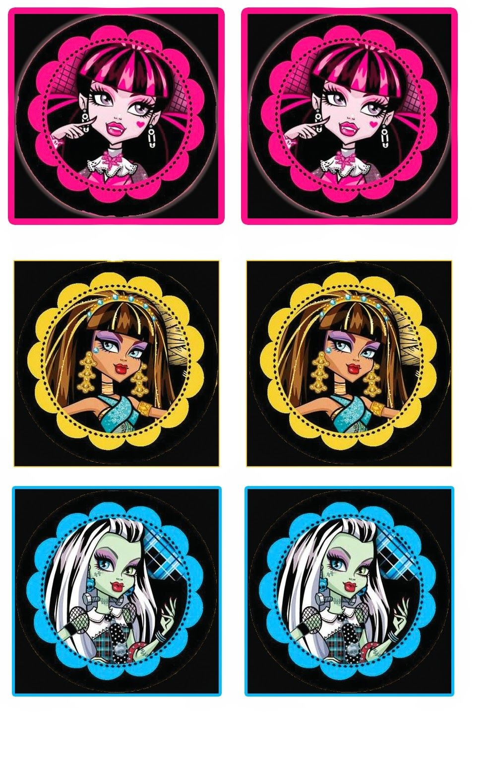 Monster High: Free Printable Wrappers Cupcake. | Party Ideas - Monster High Cupcake Toppers Printable Free