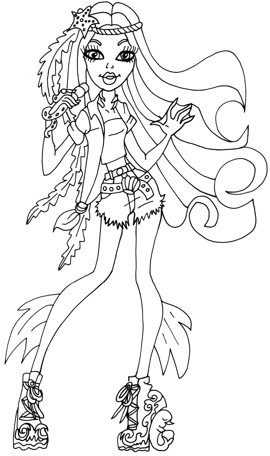 Monster High Free Printables | Madison Fear Monster High Coloring - Monster High Free Printable Pictures