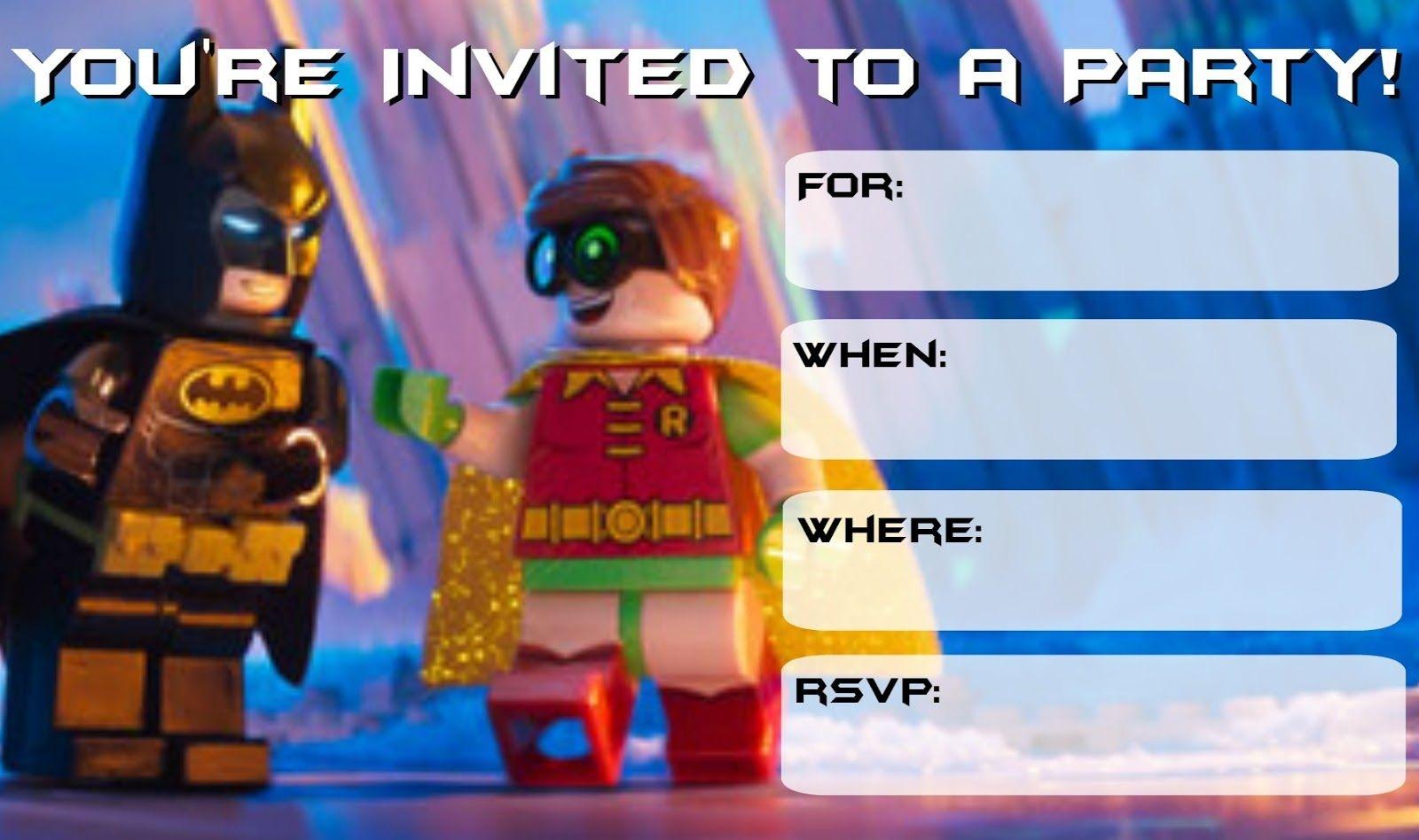 More Lego Batman Party Invitations   Drew's Birthday   Lego Batman - Lego Batman Invitations Free Printable