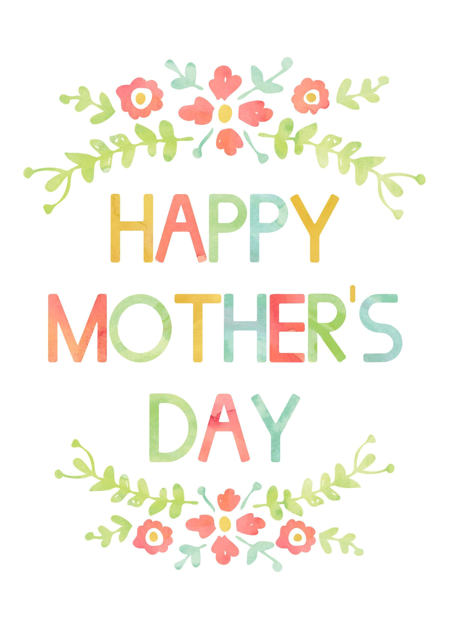 Mother's Day Card - Free Printable - Free Printable Mothers Day Cards