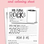 Mother's Day Questionnaire Printable | Handprint Crafts | Mothers – Free Printable Mother's Day Questionnaire