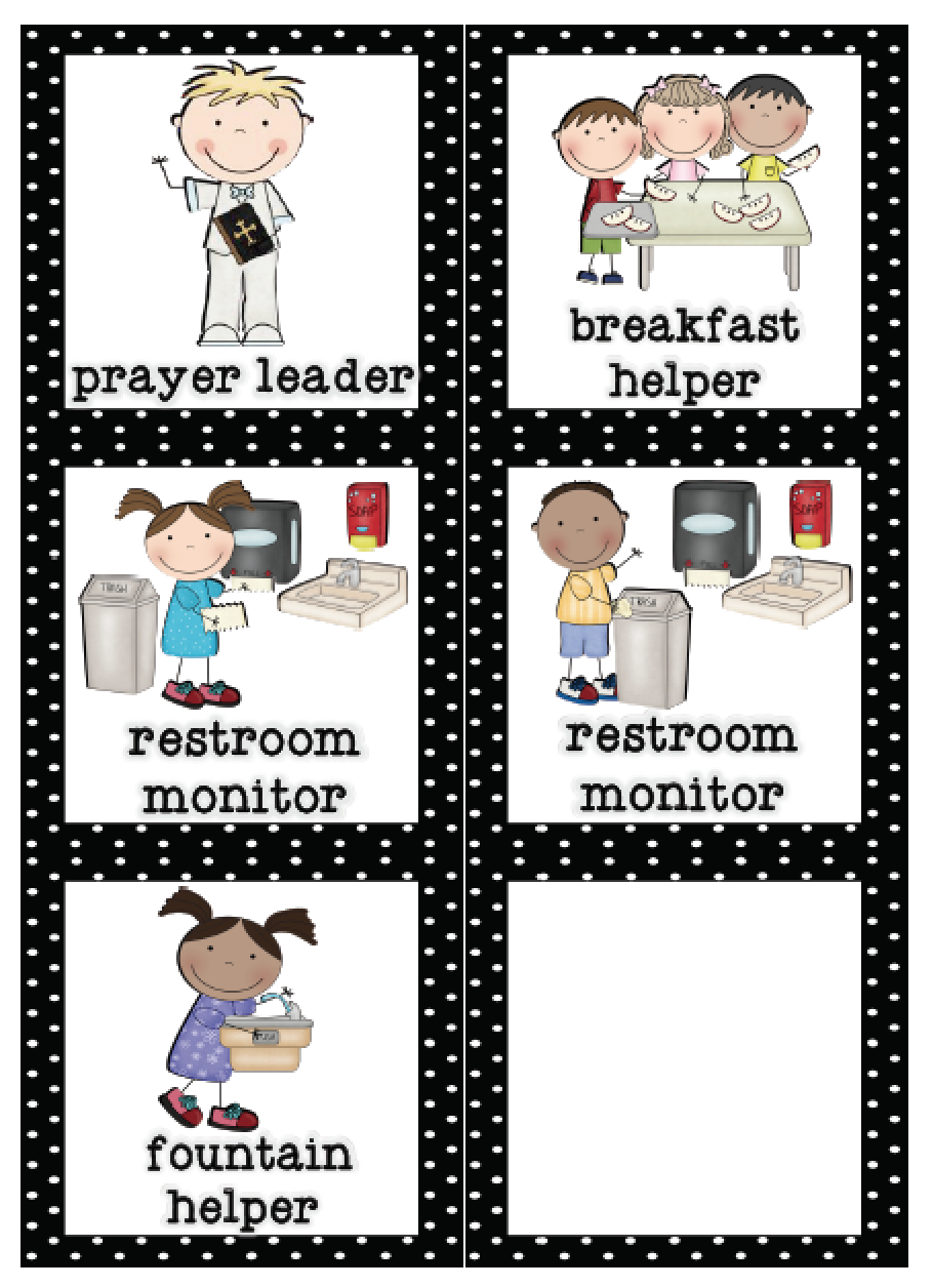 Mrs. Lirette's Learning Detectives: Classroom Helpers Set {Free} - Free Printable Classroom Helper Signs