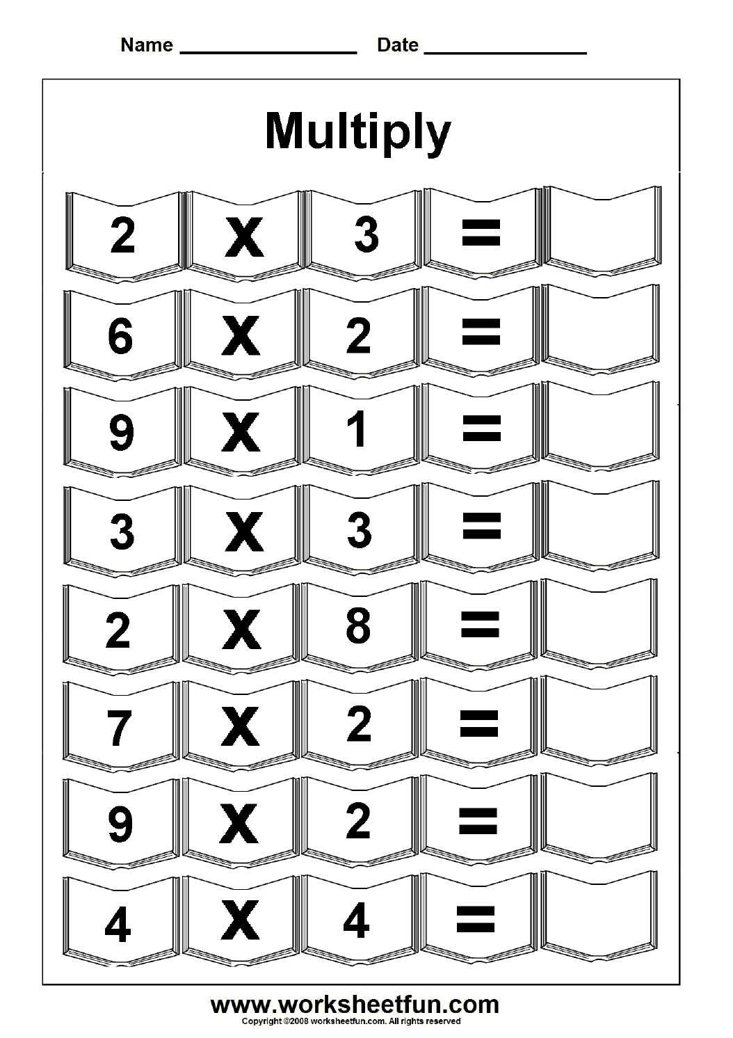 Multiplication – 5 Worksheets / Free Printable Worksheets – Worksheetfun - Www Free Printable Worksheets