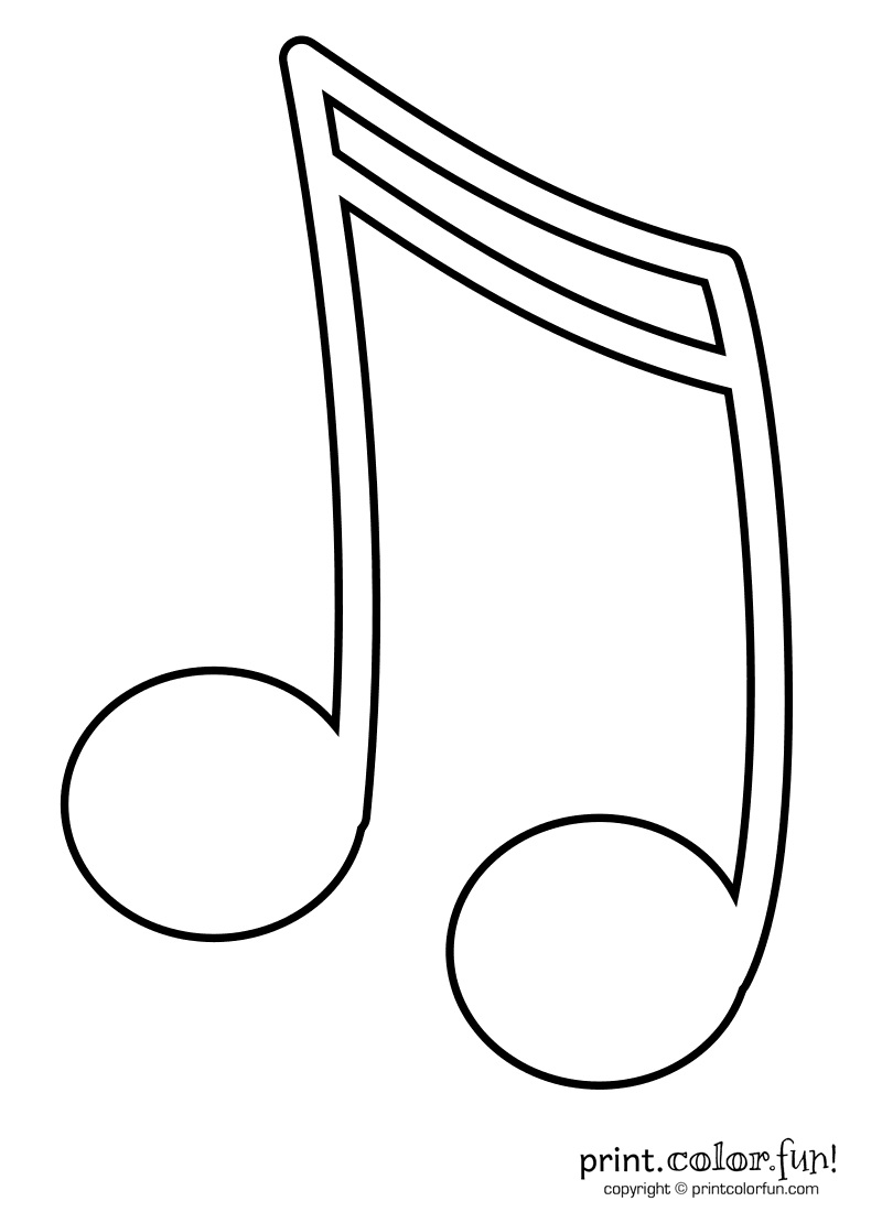Music Note Coloring Pages   Kids Coloring Pages   Coloring Books - Free Printable Music Notes Templates