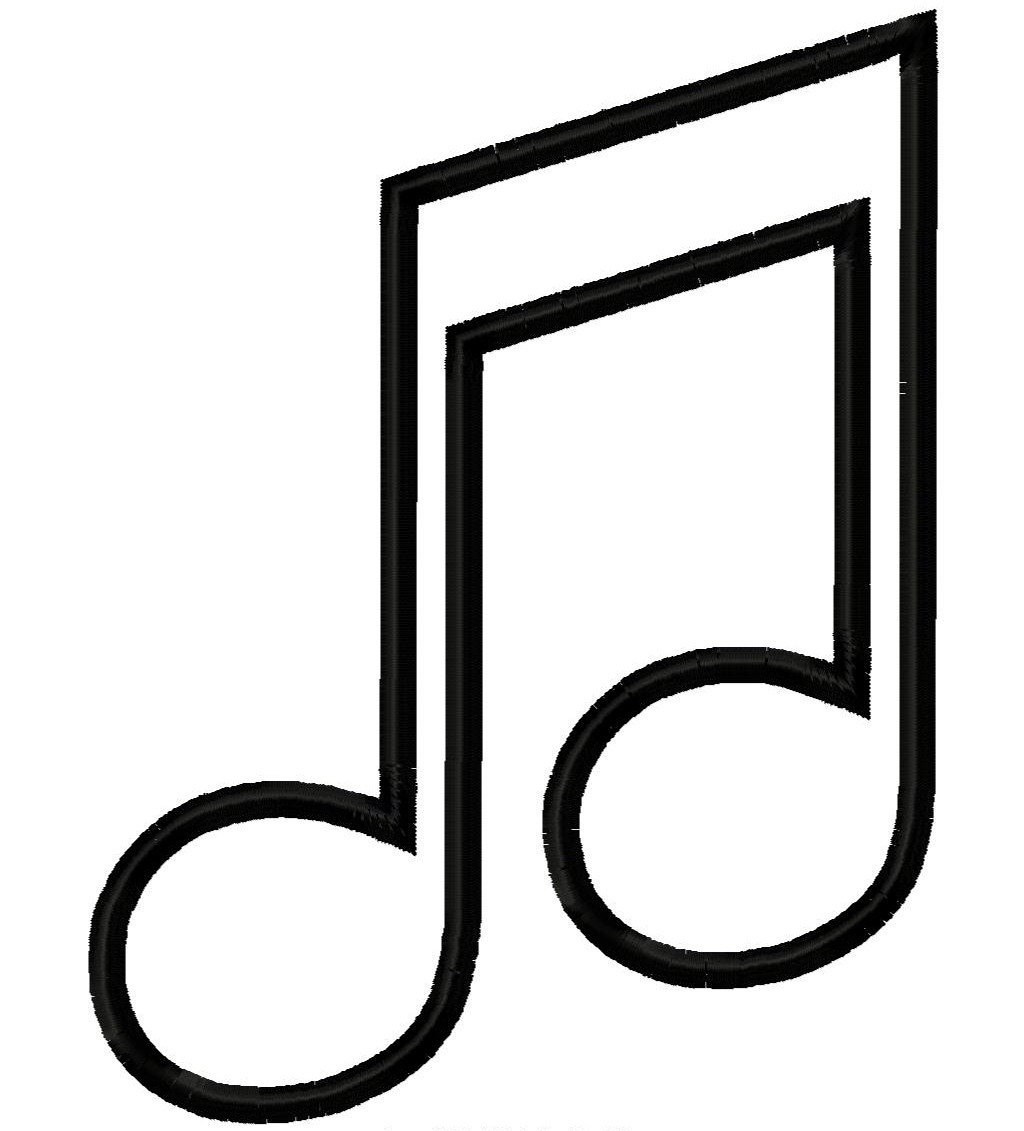 Music Note Outline   Free Download Best Music Note Outline On - Free Printable Music Notes Templates