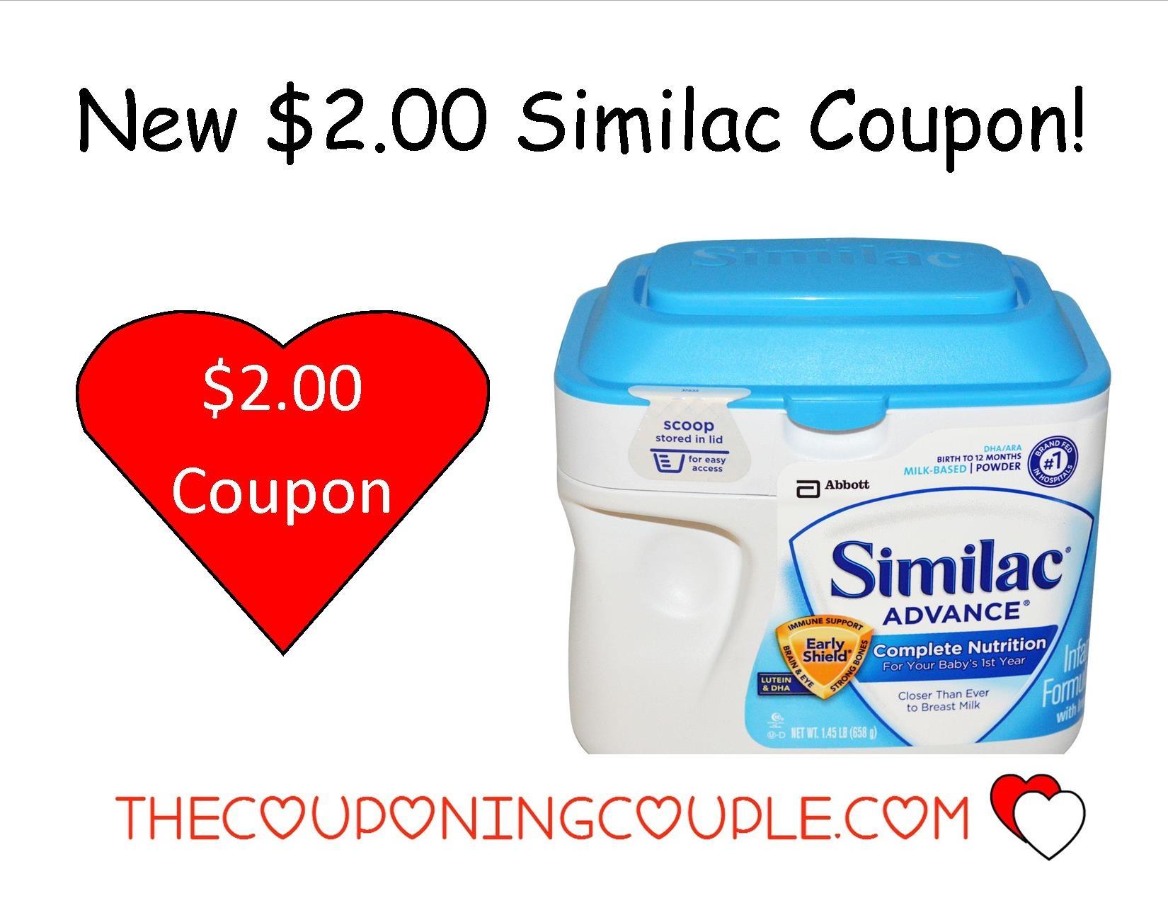 New $2.00/1 Similac Formula Coupon + Walmart Deal! - Free Printable Similac Baby Formula Coupons
